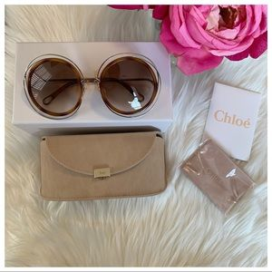 Chloe Carlina Round 52mm Sunglasses